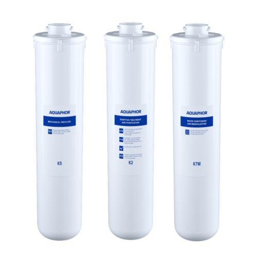 Komplet wkładów K5, K2, K7M, duży serwis Morion M, Aquaphor