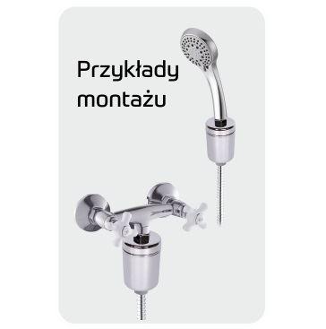 "Filtr prysznicowy SPA, GW 1/2"", WFSH-S, UST-M"