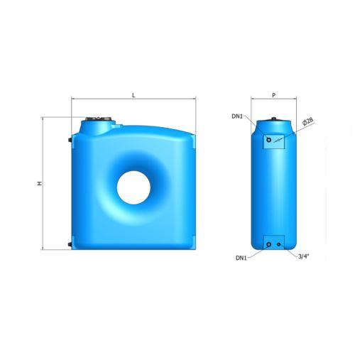Zbiornik polietylenowy 2000 litrów CPN