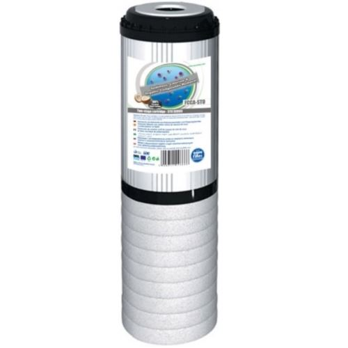 Wkład dwustopniowy polipropylenowo-węglowy 10 cali, FCCA-STO, Aquafilter
